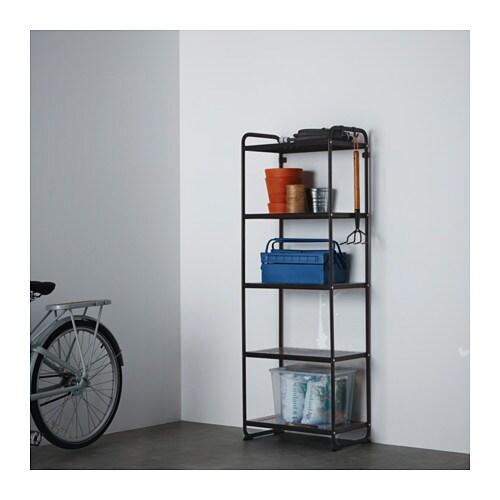 Mulig Shelf Unit Black Ikea