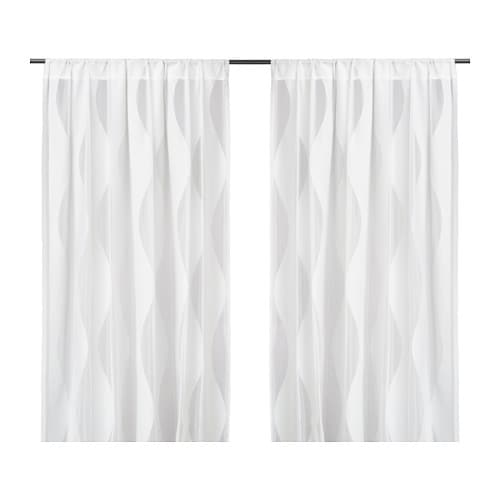 murruta lace curtains 1 pair ikea. Black Bedroom Furniture Sets. Home Design Ideas