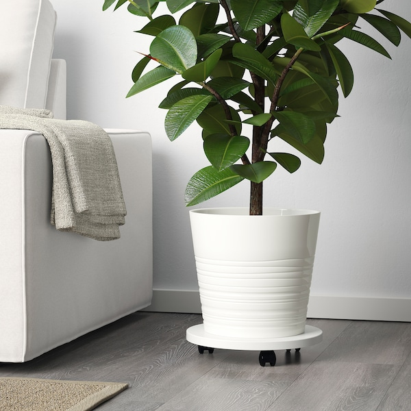 "MUSKOT Plant pot, white, 9 ½ """