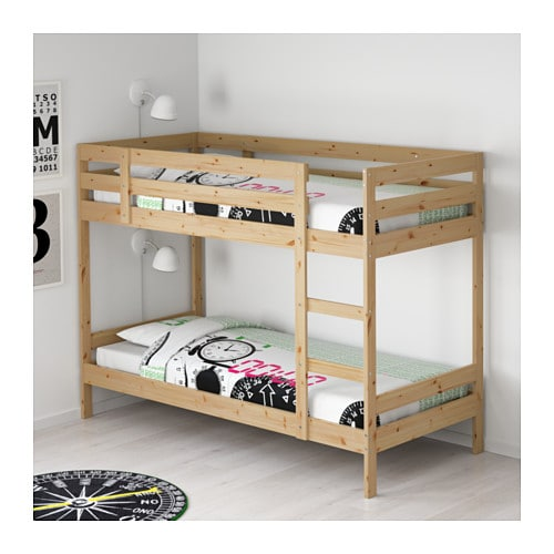 MYDAL Bunk bed frame IKEA The ladder can mount on the left or right side of - ikea bunk bed weight limit
