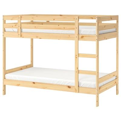 "MYDAL bunk bed frame pine 220 lb 77 1/8 "" 41 "" 61 3/4 "" 74 3/8 "" 38 1/4 "" 8 1/4 """