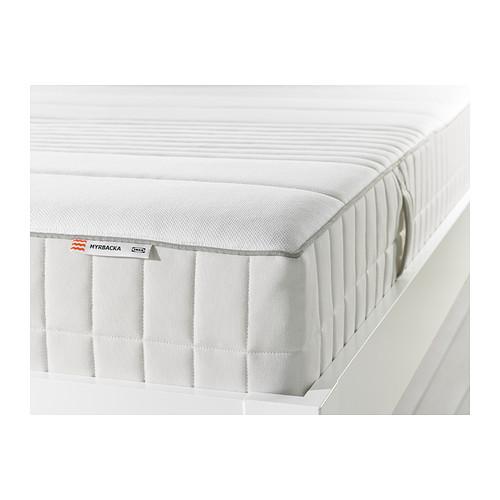 MYRBACKA Latex mattress, medium firm, white Queen medium firm/white