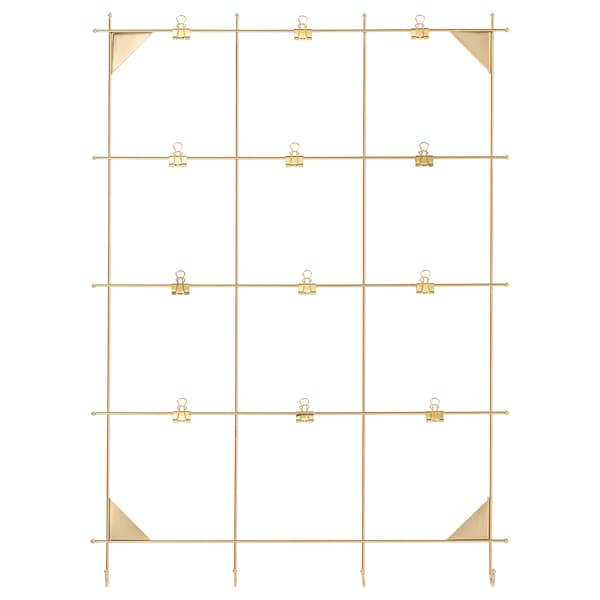 MYRHEDEN Memo board with clips, brass color