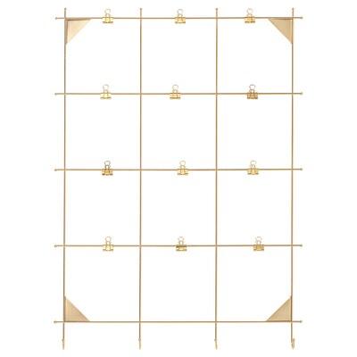 "MYRHEDEN memo board with clips brass color 17 ¾ "" 24 ½ """