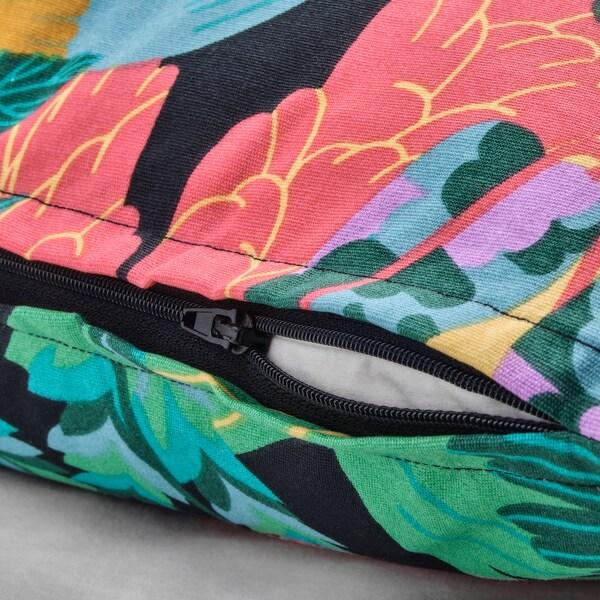 """NÄBBFLY cushion cover black/multicolor 20 """" 20 """""""