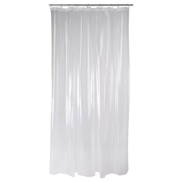 """NÄCKTEN Shower curtain, clear, 71x71 """""""