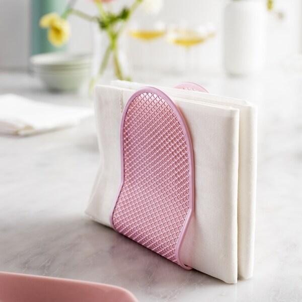 NÄTVERK Napkin holder, pink