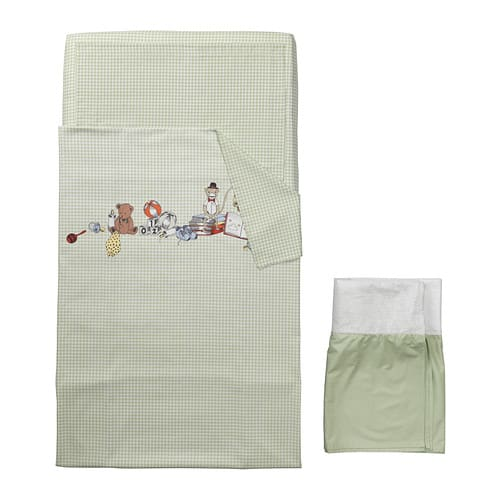 NANIG 4-piece bed linen set for crib - IKEA