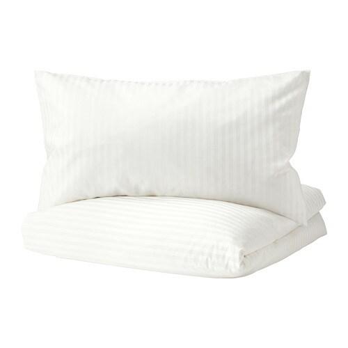 NATTJASMIN Duvet cover and pillowcase(s), white white Full/Queen (Double/Queen)