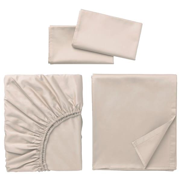 NATTJASMIN Sheet set, light beige, King