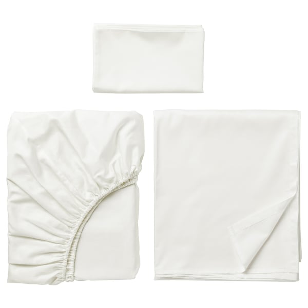 NATTJASMIN Sheet set, white, Twin