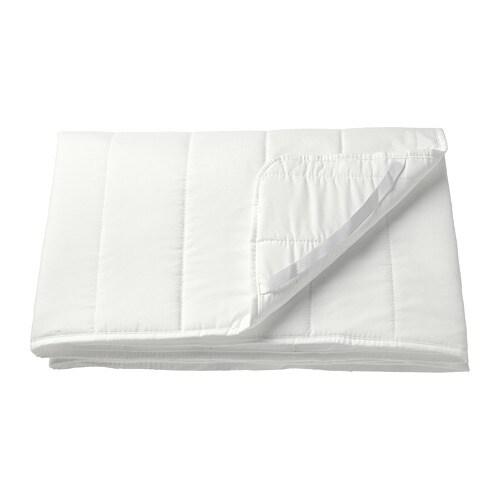 NATTLIG Waterproof mattress protector, white white 27 1/2x63