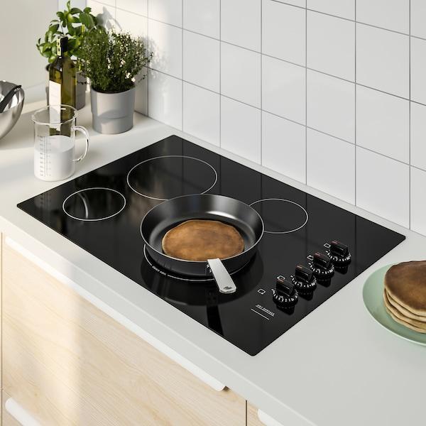 "NEDDRAGEN Glass ceramic cooktop, black, 30 """