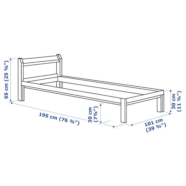 NEIDEN Bed frame, pine/Luröy, Twin
