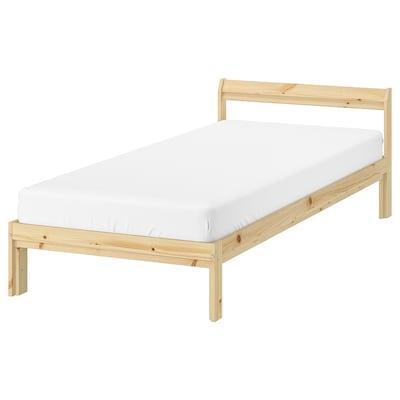 """NEIDEN bed frame pine 76 3/4 """" 39 3/4 """" 11 3/4 """" 25 5/8 """" 7 7/8 """" 74 3/8 """" 38 1/4 """""""