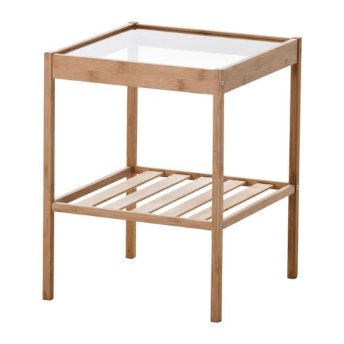 NESNA Nightstand IKEA Bamboo, a durable natural material.