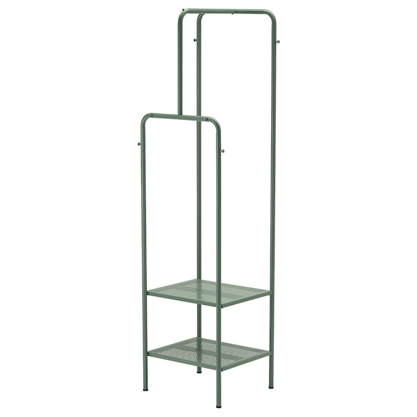 """NIKKEBY Clothes rack, gray-green, 17 3/4x66 7/8 """""""