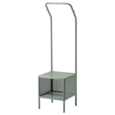 """NIKKEBY Clothes rack, gray-green, 15 3/4x55 7/8 """""""