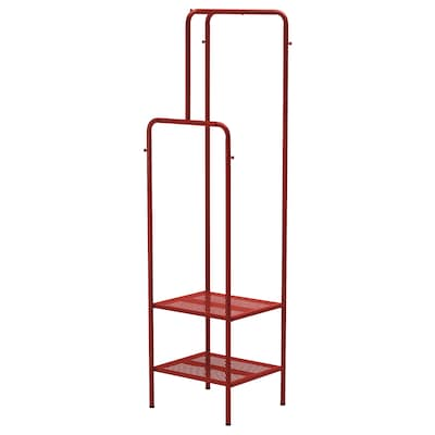 """NIKKEBY Clothes rack, red, 17 3/4x66 7/8 """""""