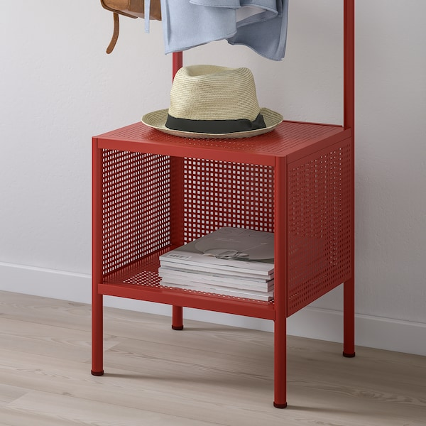 """NIKKEBY Clothes rack, red, 15 3/4x55 7/8 """""""