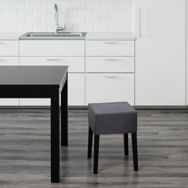 "NILS stool black/Skiftebo dark gray 243 lb 13 3/8 "" 13 3/8 "" 18 1/2 """