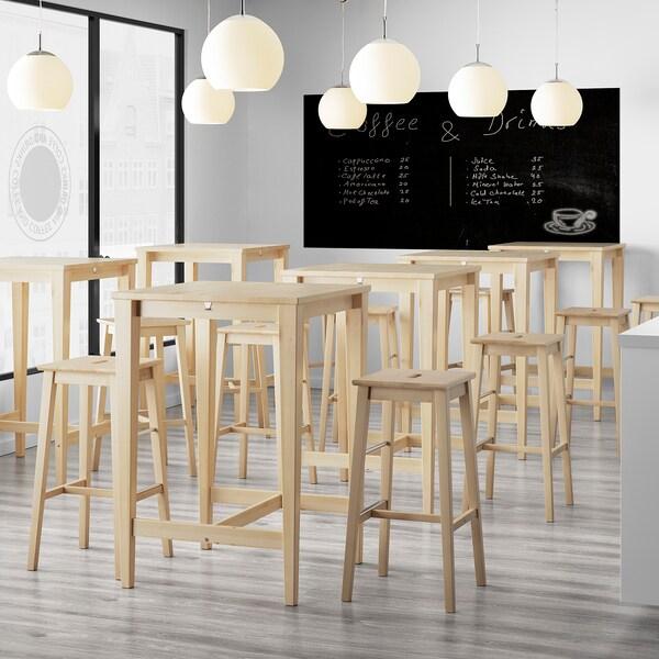 "NILSOLLE bar stool birch 243 lb 15 3/8 "" 15 3/8 "" 29 1/8 "" 14 1/8 "" 13 "" 29 1/8 """