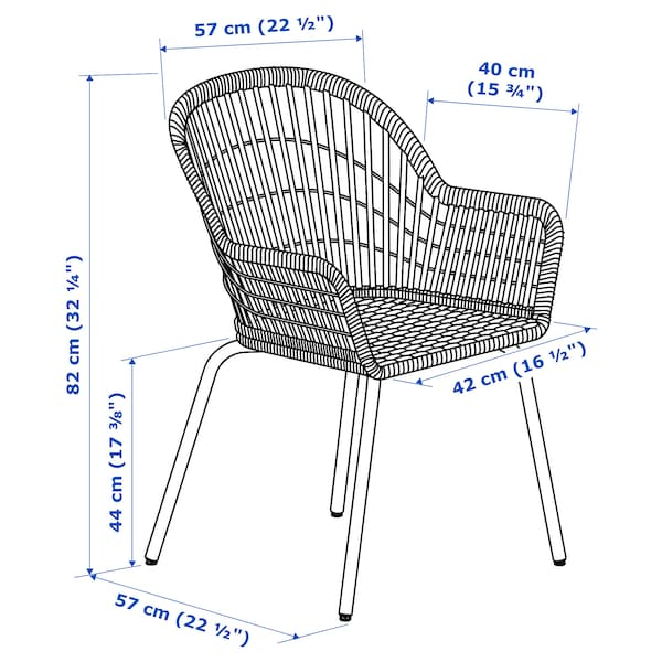 NILSOVE / NORNA Chair with chair pad, rattan white/Laila natural