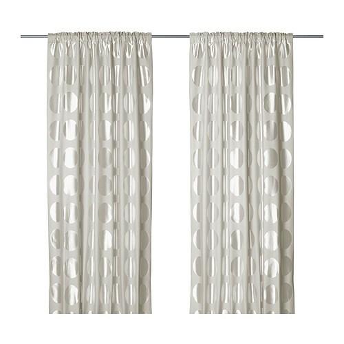 ninni rund curtains 1 pair ikea