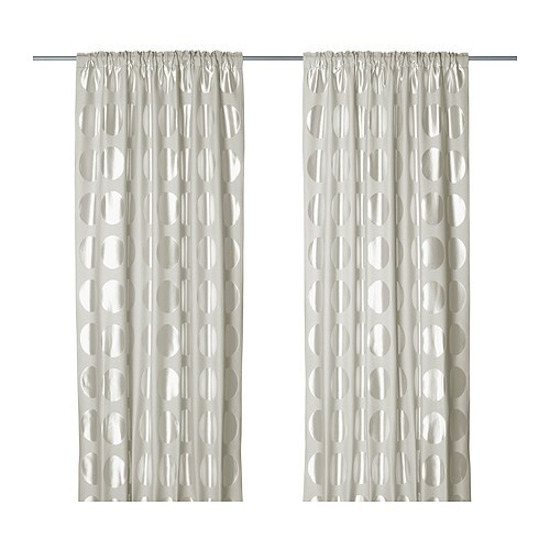 NINNI RUND Curtains, 1 pair IKEA
