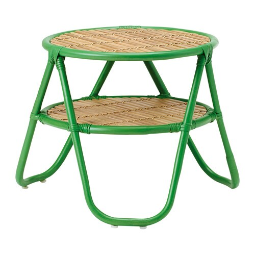 Nipprig 2015 side table green natural ikea for Ikea green side table