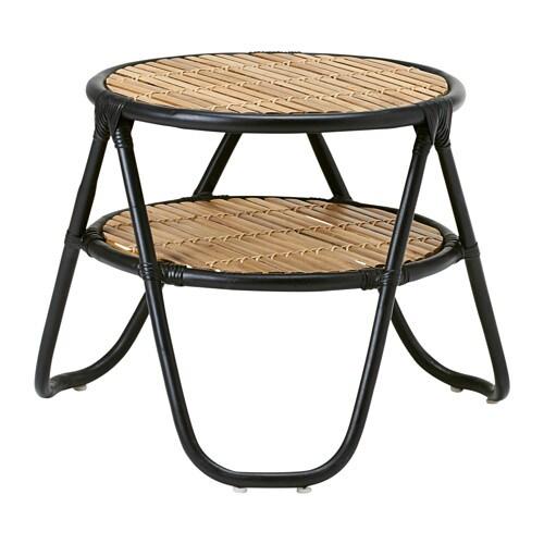 nipprig 2015 side table black natural ikea. Black Bedroom Furniture Sets. Home Design Ideas
