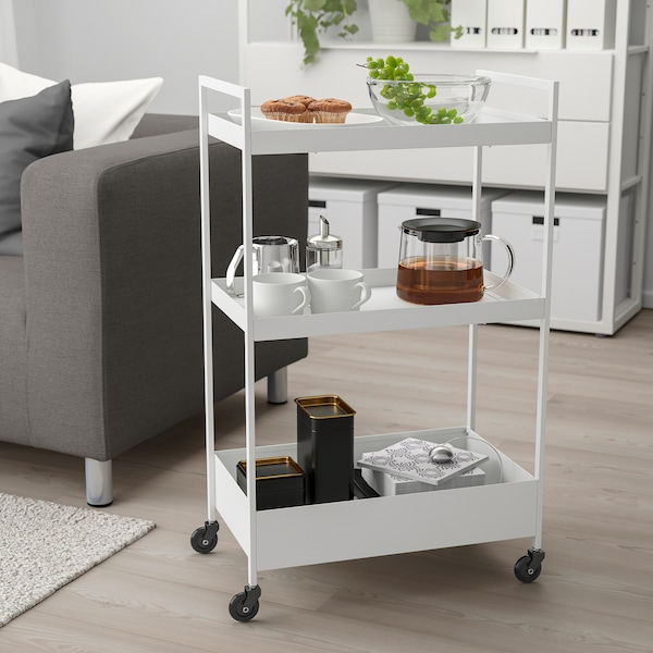"NISSAFORS Utility cart, white, 19 7/8x11 3/4x32 5/8 """