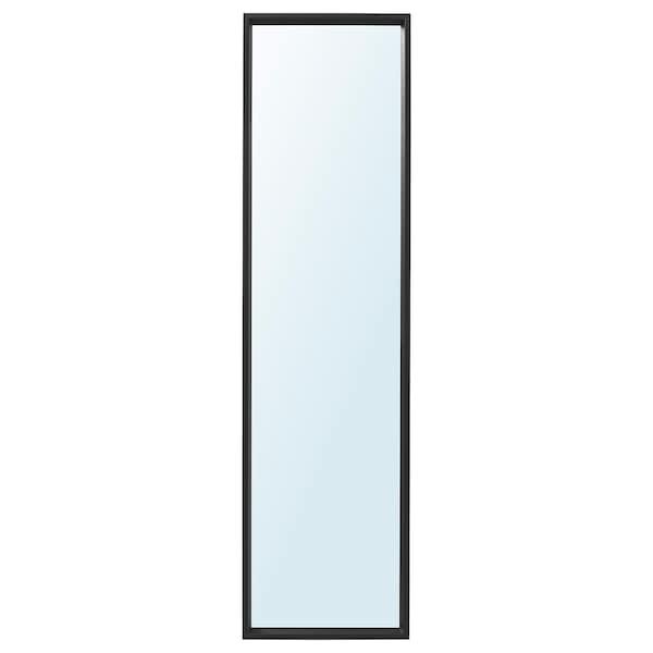 "NISSEDAL Mirror, black, 15 3/4x59 """