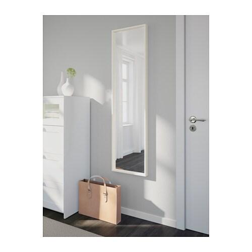 Bathroom Mirror No Screws nissedal mirror - white - ikea