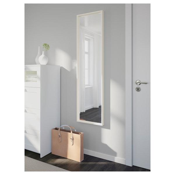 """NISSEDAL Mirror, white, 15 3/4x59 """""""