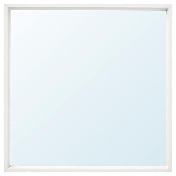 """NISSEDAL Mirror, white, 25 5/8x25 5/8 """""""