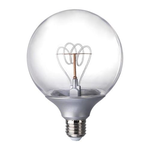 NITTIO LED bulb E26 20 lumen, globe silver color