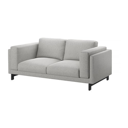 Nockeby loveseat tallmyra white black wood ikea - Canapes cuir ikea ...