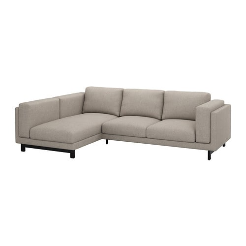 Ikea Sofa With Chaise Lounge ~ NOCKEBY Loveseat with chaise, left  Tenö light gray wood  IKEA