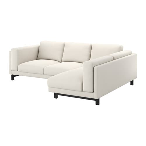 nockeby loveseat with chaise right right tallmyra light. Black Bedroom Furniture Sets. Home Design Ideas