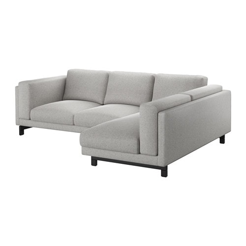 Marvelous NOCKEBY Sofa   With Chaise, Right/Tallmyra White/black, Chrome Plated   IKEA