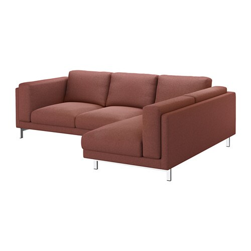NOCKEBY Sofa   Right/Tallmyra Rust, With Chaise/wood   IKEA