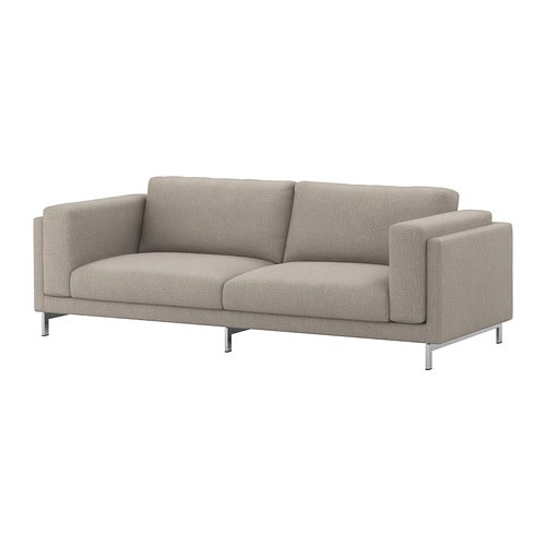 Nockeby sofa cover ten light gray ikea - Canape cuir 2 places ikea ...