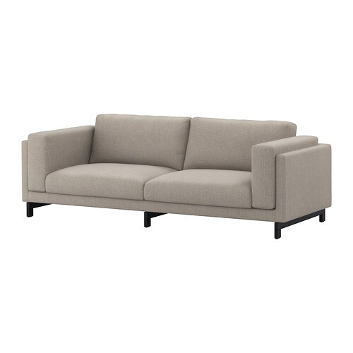 nockeby sofa ten light gray wood ikea