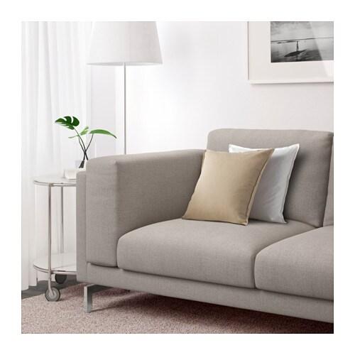 Nockeby sofa ten light gray chrome plated ikea for Sofa nockeby