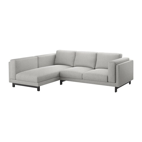 Nockeby Sofa With Chaise With Chaise Wood Ikea