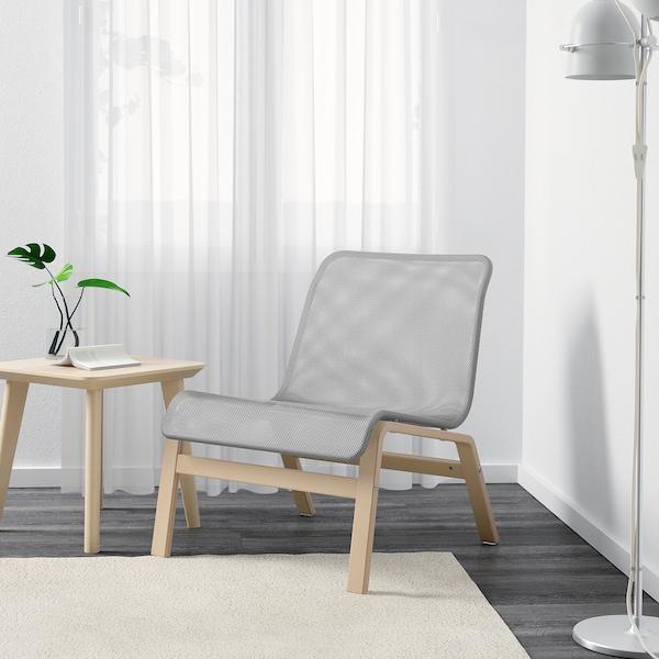 NOLMYRA Chair, birch veneer/gray