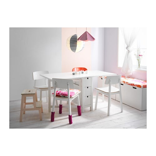 NORDEN Gateleg table IKEA Table with drop-leaves seats 2-4; makes it possible to adjust the table size according to need.