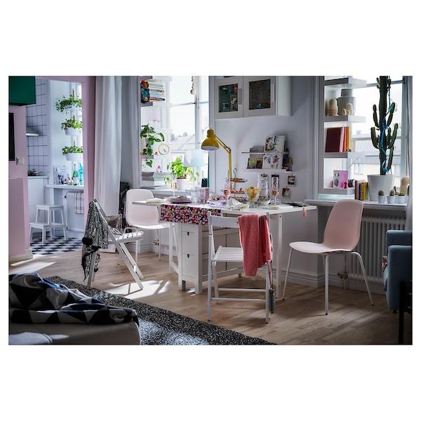 "NORDEN Gateleg table, white, 10 1/4/35/59 7/8x31 1/2 """