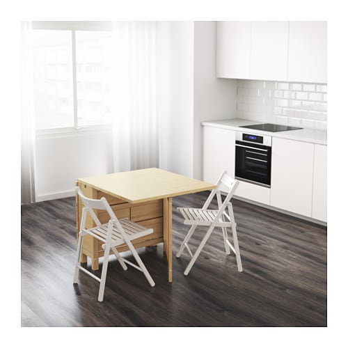 NORDEN Gateleg table IKEA You can store flatware, napkins and candles in the 6 drawers under the table top.